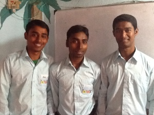 Raju 2, Raju 1 and Santu. Amazing young men who teach the children at New Hope