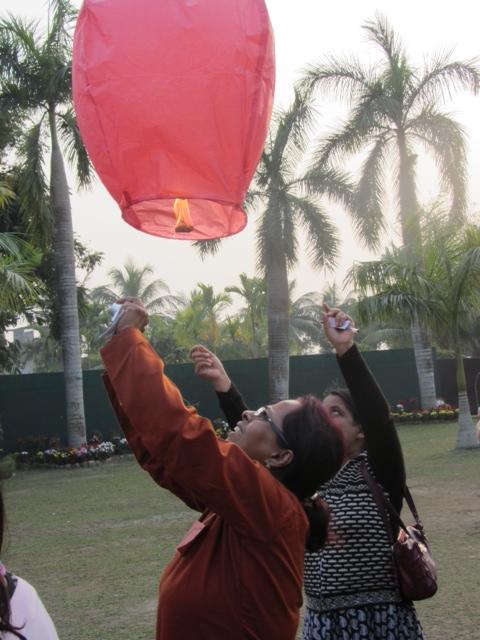 Releasing Lanterns