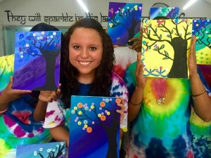 Danae taught Painting a with A a Twist- India style!